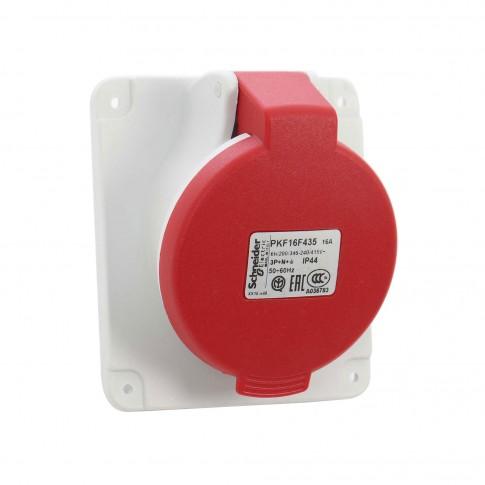 Priza industriala incastrata Schneider Electric PKF16F435, 5P 16A 380V