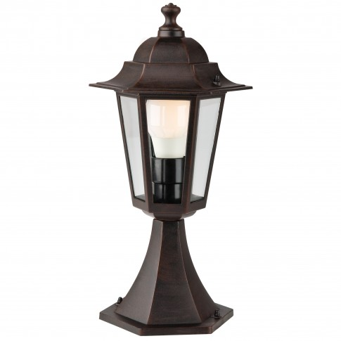 Stalp de iluminat ornamental London 6104R, 1 x E27, H 40.9 cm, rustic