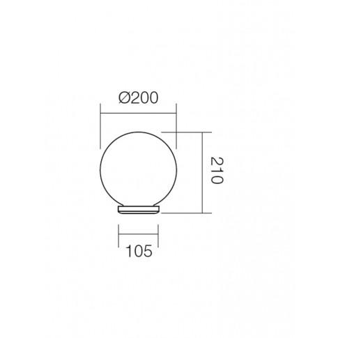 Corp de iluminat pentru exterior Sfera 1 9761, 1 x E27, H 21 cm, D 20 cm, opal