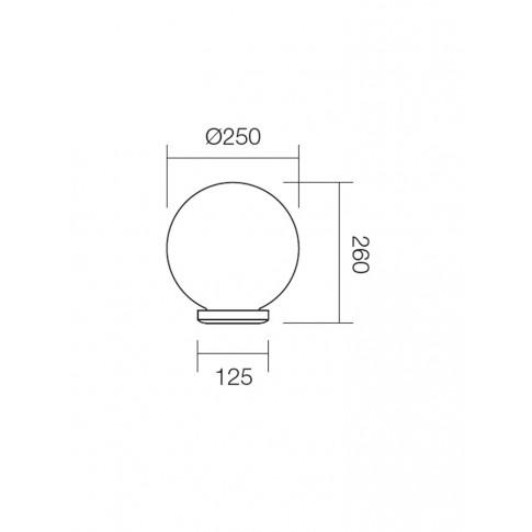 Corp de iluminat pentru exterior Sfera 2 9770, 1 x E27, H 26 cm, D 25 cm, fumuriu