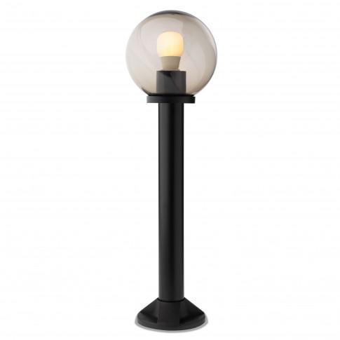 Stalp de iluminat ornamental Sfera 1 9768, 1 x E27, H 70 cm, D 20 cm, fumuriu