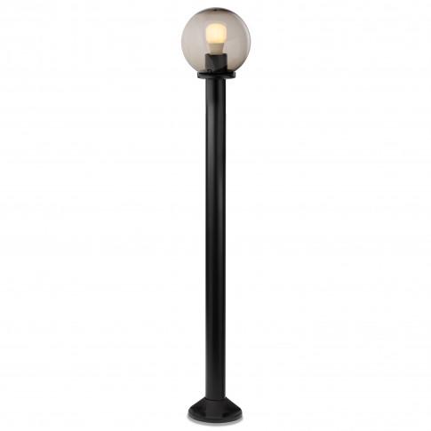 Stalp de iluminat ornamental Sfera 1 9766, 1 x E27, H 120 cm, D 20 cm, fumuriu