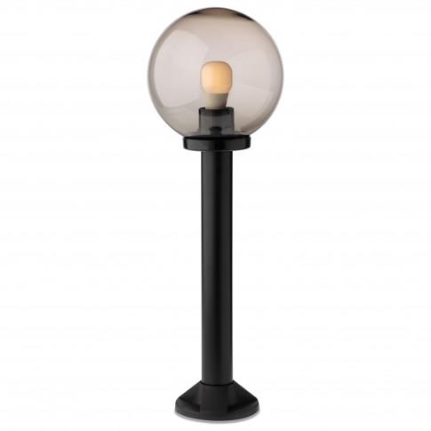 Stalp de iluminat ornamental Sfera 2 9779, 1 x E27, H 75 cm, D 25 cm, fumuriu