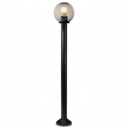 Stalp de iluminat ornamental Sfera 2 9776, 1 x E27, H 125 cm, D 25 cm, fumuriu
