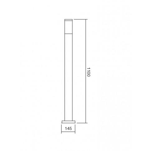 Stalp de iluminat ornamental Colonna 9021, 1 x E27, 110 cm, inox