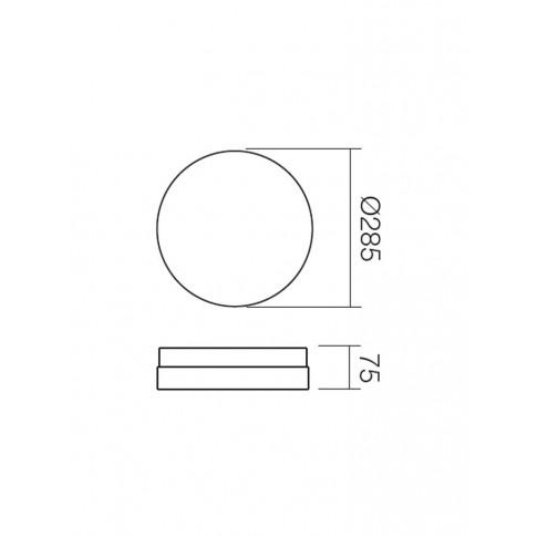 Plafoniera pentru baie Teo 01-235, 2 x E14, D 285 mm, IP20
