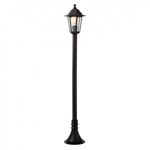 Stalp de iluminat ornamental London 6110N, 1 x E27, H 100 cm, negru
