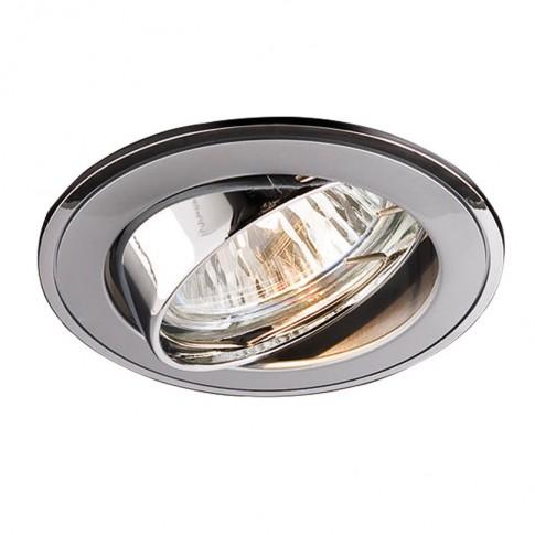 Spot incastrat ELC 229B 70007, GU10, orientabil, perla crom / crom