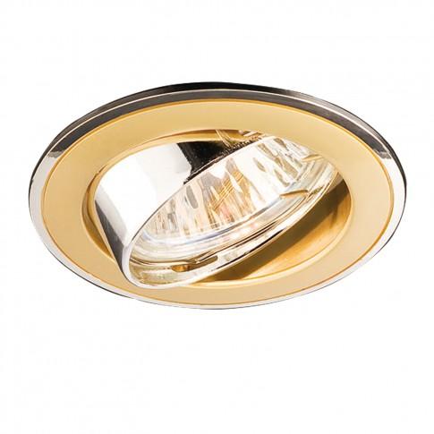 Spot incastrat ELC 229B 70005, GU10, orientabil, perla aur / argintiu