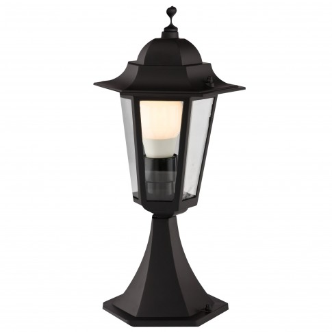 Stalp de iluminat ornamental London 6104N, 1 x E27, H 40.9 cm, negru