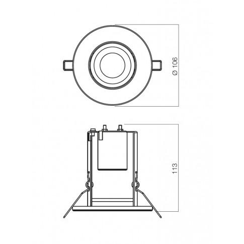 Spot incastrat FR 63 70054, E27 / R63, nichel mat