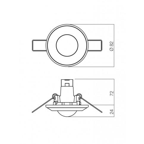 Spot incastrat ELC 287+CP 70027, GU5.3, crom