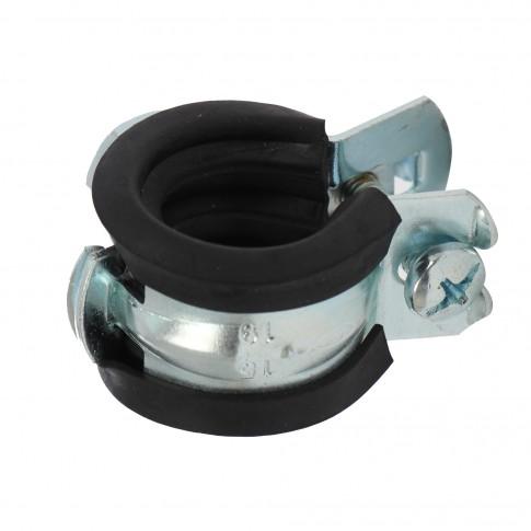 Colier metalic pentru tevi, cu garnitura de cauciuc, FGRS 79421, 15 -19 mm