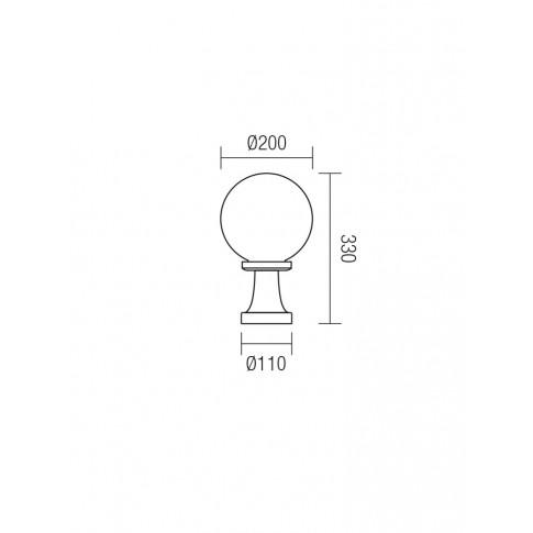 Corp de iluminat pentru exterior Sfera 1 Jolly 9764, 1 x E27, H 33 cm, D 20 cm, fumuriu