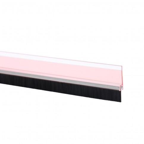 Perie pentru usi, adeziva, pentru etansare, transparent, tesa Moll 5433, 1 m