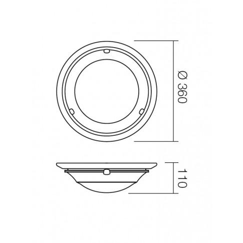 Plafoniera Antica 05-429, 1 x E27, maro