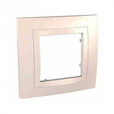 Rama Schneider Electric Unica Basic MGU2.002.25M, 1 post, fildes, pentru priza / intrerupator