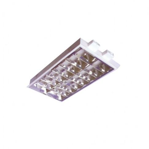 Corp iluminat DP 605224P, 2 x 18W, incastrat