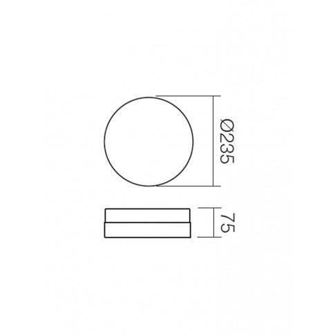 Plafoniera pentru baie Teo 01-236, 1 x E14, D 235 mm
