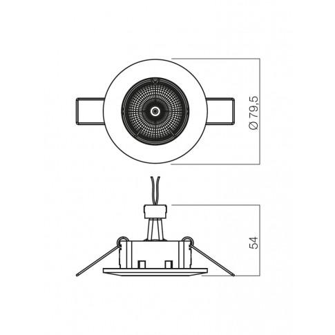 Spot incastrat ELC 146 70082, GU10, nichel mat