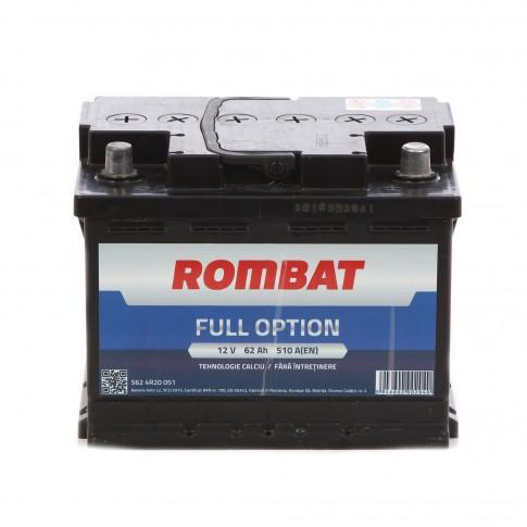 Baterie auto Rombat Full Option 12 V, 62 Ah, 510 A, 24.2 x 17.5 x 16.8 cm
