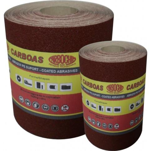 Rola panza abraziva pentru lemn, metale, vopsea, Carbochim PES J222, granulatie 400, rola 50 m x 130 mm