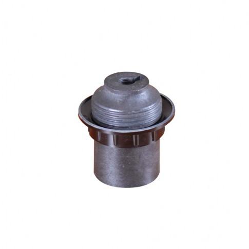Dulie E27 plastic termorezistent, racord filetat si contrainel 02252