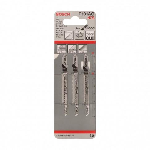 Panza fierastrau vertical, pentru lemn, Bosch T 101 AO, 2608630559, set 3 bucati