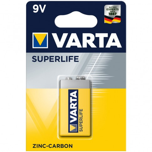 Baterie Varta Superlife 2022, 9V, zinc - carbon