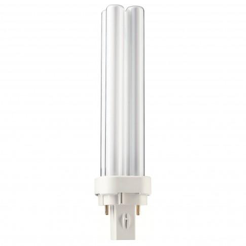 Bec economic Philips Master PL-C 2P tubular G24D-2 18W 1200lm lumina calda 3000 K