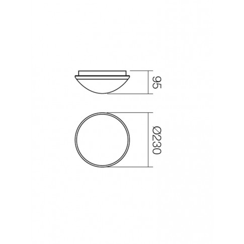 Plafoniera pentru baie Ring 01-245, 1 x E27, D 230 mm