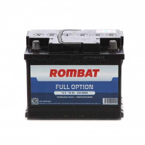 Baterie auto Rombat Full Option 12 V, 55 Ah, 450 A, 24.2 x 17.5 x 16.8 cm