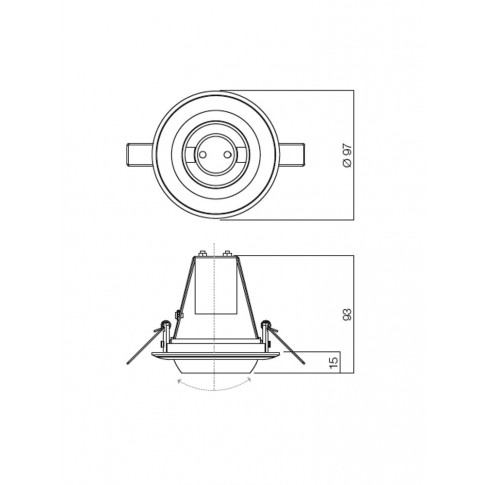 Spot incastrat TR 50 70117, E14 / R50, orientabil, alama rosie antica