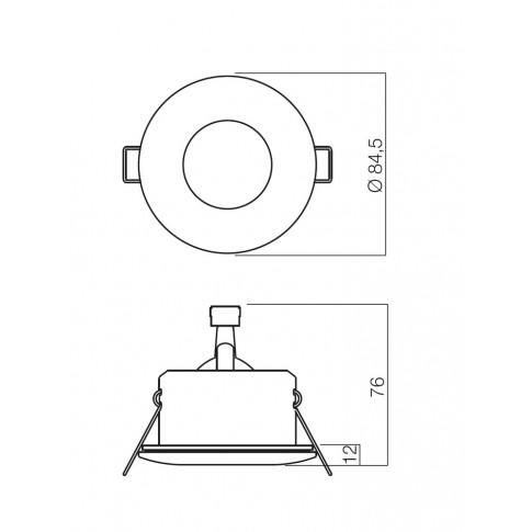Spot incastrat ELC 1101 70124, GU10, IP54, alb
