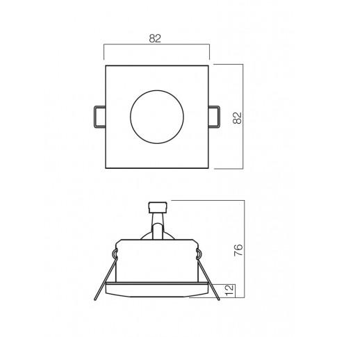 Spot incastrat ELC 1104 70127, GU5.3, IP54, crom
