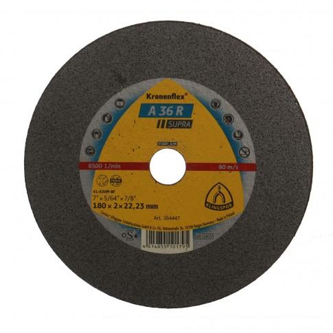 Disc debitare inox si otel, Klingspor A 36 R Supra, 180 x 22.23 x 2 mm