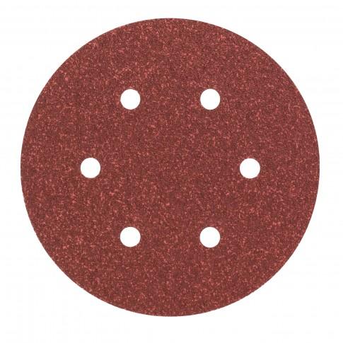 Disc abraziv cu autofixare, pentru lemn / metale, Bosch 2609256A30, 150 mm, granulatie 60, set 5 bucati