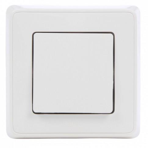 Intrerupator simplu Legrand Cariva 693950, incastrat, rama inclusa, alb