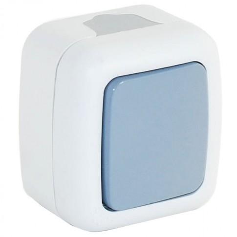 Intrerupator simplu Comtec Elegant MF0012-85760, aparent, rama inclusa, gri