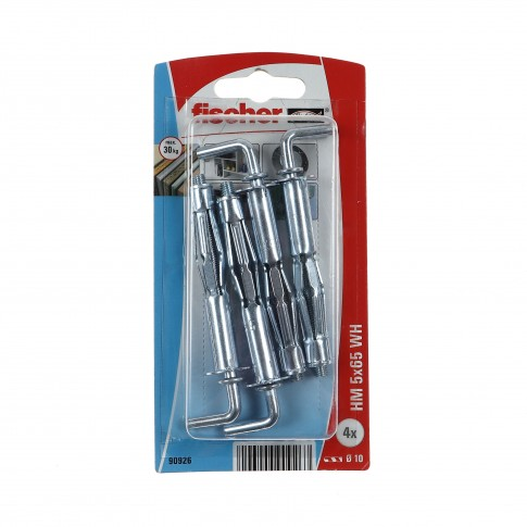 Diblu metalic, pentru cavitati, cu surub cu carlig, HM 5 X 65 mm, 4 bucati