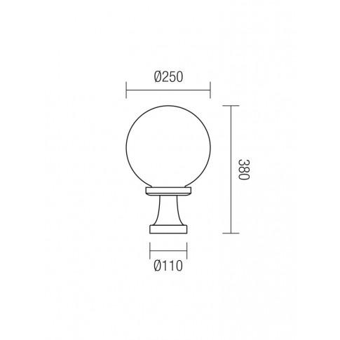 Corp de iluminat pentru exterior Sfera 2 Jolly 9775, 1 x E27, H 38 cm, D 25 cm, opal