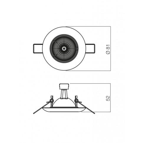 Spot incastrat ELC 307 70150, GU5.3, crom satinat