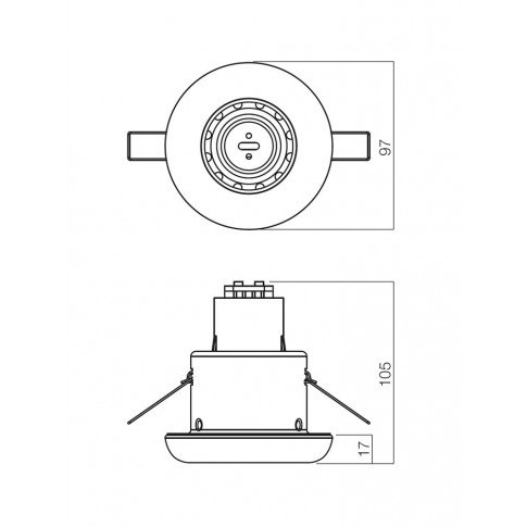 Spot incastrat ELC 239R 70159, E14 / R50, alb