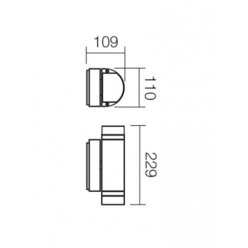 Aplica exterior Focus 9810, 2 x GU10