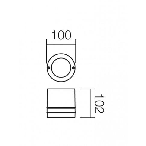 Plafoniera exterior Focus 9812, 1 x GU10