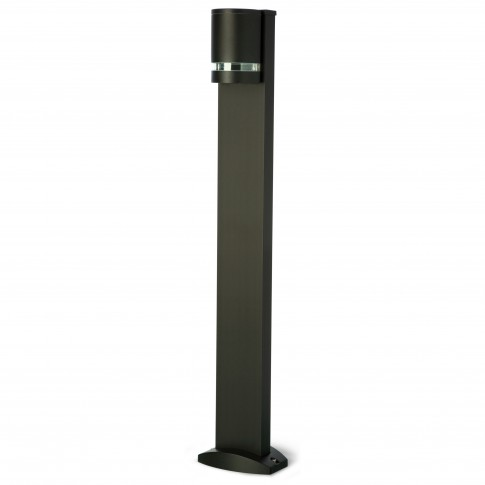 Stalp de iluminat ornamental Focus 9813, 1 x GU10, H 100 cm, negru