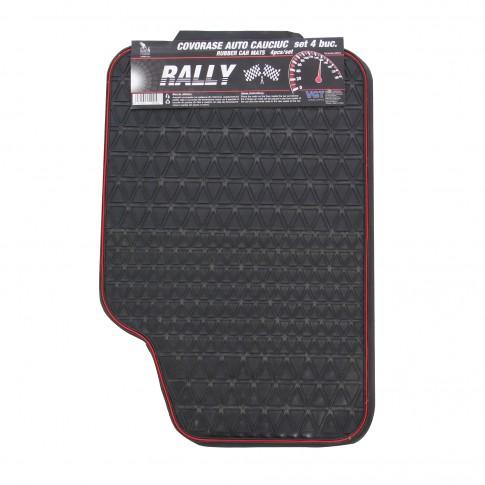 Covorase auto VGT Rally, cauciuc, universale, 30 x 40 / 60 x 40 cm, set 4 bucati