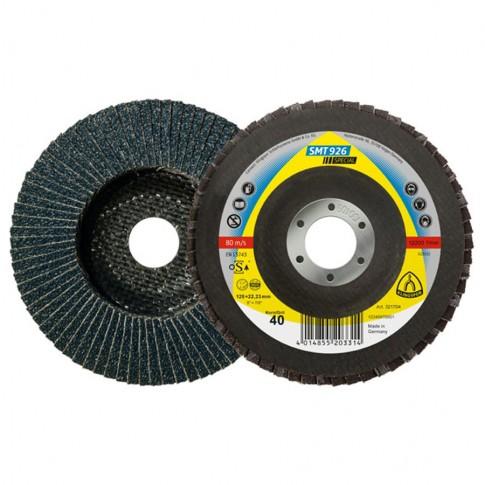 Disc lamelar frontal, pentru otel / inox, Klingspor SMT 926, 125 x 22.23 mm, granulatie 80