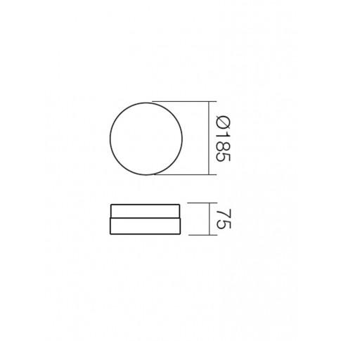 Plafoniera pentru baie Teo 01-237, 1 x E14, D 185 mm