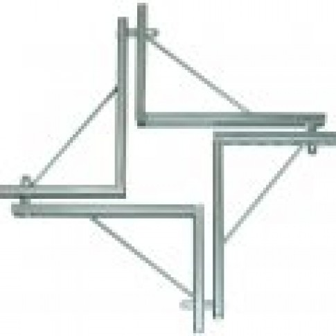 Cravata pentru armare stalpi, otel, 15-45 cm, 4 buc/set